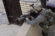 U.S. Army Ranger, 2nd Battalion, 75th Ranger Regiment providing Overwatch in Iraq 2006