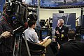 U.S. Navy Rear Adm. Matthew Klunder, the chief of naval research, is interviewed by ABC News in National Harbor, Md., April 8, 2013, about the solid-state laser prior to the Chief of Naval Operations Adm 130408-N-PO203-186.jpg