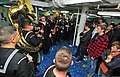 U.S. Sailors with the U.S. Naval Forces Europe Band perform for music students in Burgas, Bulgaria, aboard the U.S. 6th Fleet command ship USS Mount Whitney (LCC 20) during a port visit Nov. 6, 2013 131106-N-PE825-085.jpg