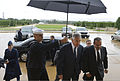 U.S. Secretary of Defense Chuck Hagel, center right, welcomes Prince Salman bin Hamad bin Isa Al Khalifa, right, the crown prince and first deputy prime minister of Bahrain, for a meeting at the Pentagon 130607-D-NI589-237.jpg