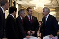 U.S. Secretary of Defense Chuck Hagel, right, talks with, from left, Dennis Muilenburg, the president and chief executive officer of Boeing Defense, Space and Security; Japanese Minister of Defense Itsunori 130531-D-BW835-075.jpg