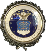 Example of the Air Force Silver Recruiter Badge, circa 1985/86