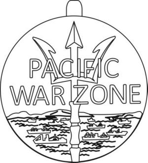 Merchant Marine Pacific War Zone Medal - Image: USA Merchant Marine Pacific War Zone Medal obverse