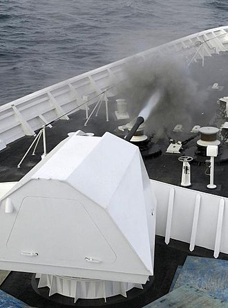 USCGC Bertholf test firing its MK110 57mm gun USCGC Bertholf 57mm.JPG