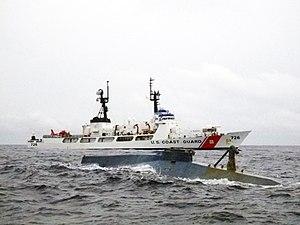 USCGC Midgett intercepts a small cocaine sub.jpg