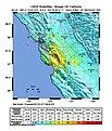 USGS Shakemap - 1984 Morgan Hill earthquake.jpg