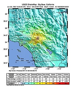 USGS Shakemap - 1992 Big Bear earthquake.jpg
