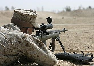 Designated marksman rifle - Image: USMC M14 DMR