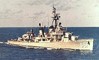 USS Cogswell (DD-651) underway at sea, circa in 1969.jpg