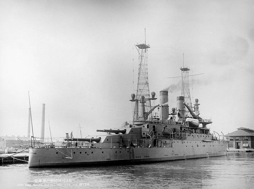 USS Michigan 1909 LOC 32523u