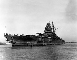 USS Mississippi (BB-41) in the Mississippi River on 16 October 1945.jpg