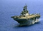 USS Wasp transits the Mediterranean Sea. (28506547841).jpg