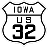 US 32 Iowa 1926 shield marker