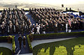 US Navy 040611-N-6811L-025 Ceremonial Honor Guardsmen escort the flag draped casket of former President Ronald Reagan.jpg