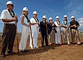 US Navy 041020-N-3019M-004 Members of the official party prepare to break ground during a ceremony held at the historic airfield on Ford Island, Hawaii.jpg