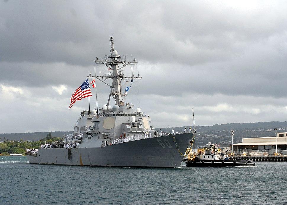 USS Paul Hamilton returns to Pearl Harbor, Hawaii