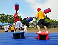 US Navy 080612-N-4774B-914 Fleet Anti-Submarine Warfare Sailors participate in a jousting competition during the 11th Annual Sports Day at the Navy Sailing Center, Point Loma.jpg