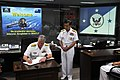 US Navy 090707-N-8273J-170 Chief of Naval Operations (CNO) Adm. Gary Roughead meets with Vice Adm. ParkJung-hwa, Commander, Republic of Korea Fleet while visiting theRepublic of Korea Fleet headquarters in Busan, Korea.jpg