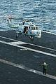 US Navy 091208-N-7939W-012 A British Royal Navy HMA.8 Super Lynx helicopter takes off from USS Nimitz (CVN 68).jpg