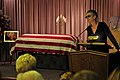 US Navy 101004-N-3659B-215 Actress Jamie Lee Curtis speaks at the funeral of her father, Tony Curtis in Las Vegas. Tony Curtis served in the U.S. N.jpg