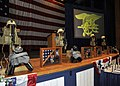 US Navy 101006-N-8689C-010 Four memorials are displayed during a memorial service for four members of the Naval Special Warfare community at Joint.jpg
