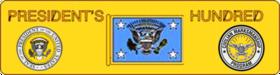 U.S. Navy's & Civilian's President's Hundred Brassard