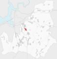 Ubicación e extensión da Silva en Lousame.png