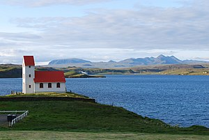 Ulflotsvatn Lake Church and Power Plant.jpg