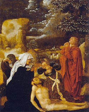 Ulrich Apt the Elder - The Lamentation by Ulrich Apt the Elder, Thyssen-Bornemisza Museum, 1510