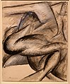 Umberto boccioni, voglio fissare le forme umane in movimento (dinamismo di un corpo umano), 1913 (cast. sforzesco).jpg