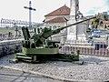 Un des canons de DCA Bofors du monument aux morts de la Chaux-de-Gilley.jpg