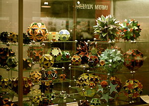 Uniform star polyhedron - A display of uniform polyhedra at the Science Museum in London