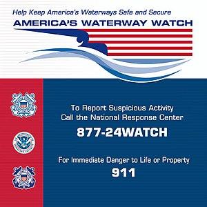 America's Waterway Watch - Decal promoting America's Waterway Watch