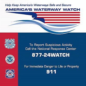 America's Waterway Watch - Decal promoting America's Waterway Watch