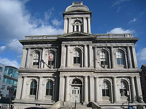 United States Custom House (Portland, Maine) - Fore Street facade