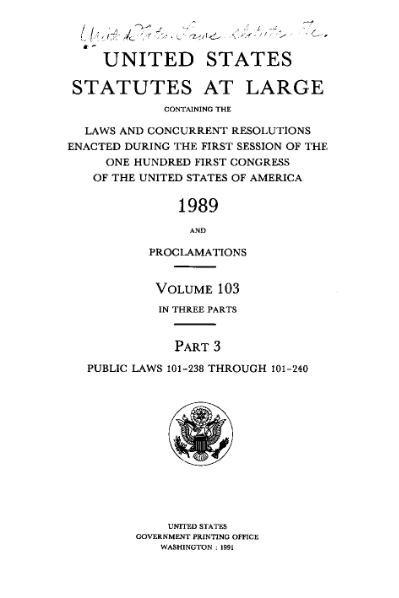File:United States Statutes at Large Volume 103 Part 3.djvu