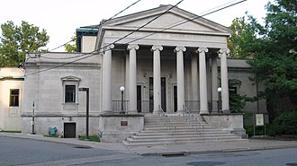 Solon Spencer Beman - The former First Church of Christ, Scientist (Pittsburgh), constructed in 1904, shows the classical style favored by Beman for Christian Science. It now serves as the University of Pittsburgh's Child Development Center.