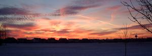 Wabash Township, Tippecanoe County, Indiana - Dawn skies over a West Lafayette neighborhood