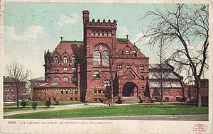 Furness Library - University of Pennsylvania Library in 1904.