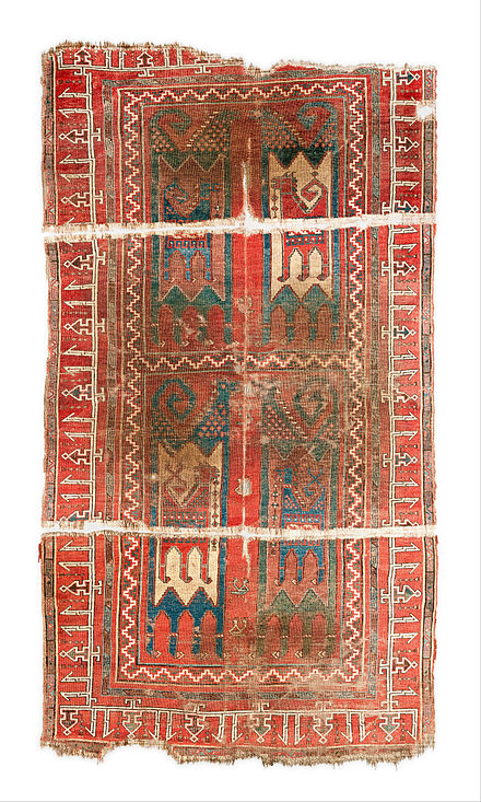 Animal Carpet Turkey Dated To The 11th 13th Century Museum Of Islamic