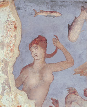 Langon, Ille-et-Vilaine - Roman fresco from the Chapelle de Sainte Agathe