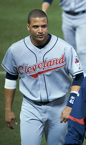 Víctor Martínez (baseball) - Martínez with the Cleveland Indians in 2008