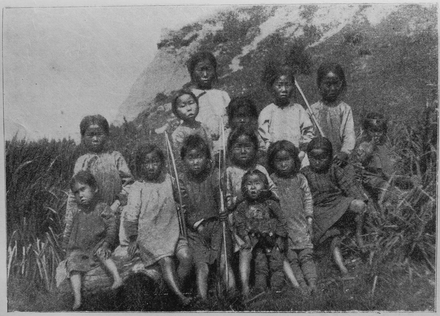 Nivkh children in Sakhalin c. 1903 V.M. Doroshevich-Sakhalin. Part II. Nivkh Children.png