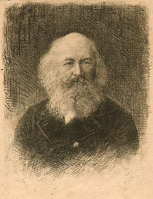 Dmitry Rovinsky - 1873. Vasily Mate. Portrait of Dmitry Rovinsky. Etching.