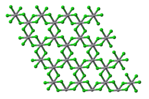 Vanadium(III) chloride - Image: V Cl 3 layer in xtal 1947 3D balls