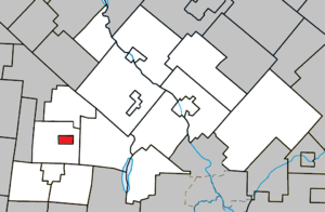 Valcourt (city) - Image: Valcourt (City) Quebec location diagram