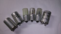 Various types of Glow starter.jpg