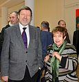 Vasily Kostiuchenko Exhibition in Minsk Museum Modern Art 17.12.2014 Larisa Finkelshtein.jpg