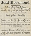 Venloosch Weekblad vol 016 no 030 advertisement Groote publieke Voorstelling van de Passie van O. H. Jezus Christus.jpg
