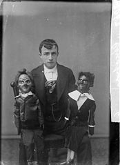 Ventriloquist and his dolls